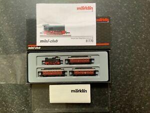 "Marklin z scale/gauge. 'Commuter Train Set"" V. Rare."