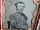 Civil War Zouave soldier tintype photograph & case