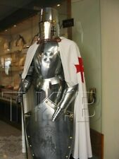 Medieval Knight Suit Of Armor Templar Combat Full Body Armour Stand Christmas