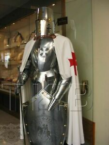 Medieval Knight Suit Of Armor Templar Combat Full Body SCA Halloween Armour Gift