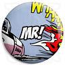 Mr - 25mm Comic Wedding Button Badge with Fridge Magnet Option