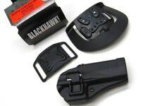 Blackhawk Right Hand Serpa CQC Holster w/ Paddle + Belt Loop - Glock 20/21/37