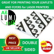 600 sheets A6 170 gsm SILK LASER 2 SIDED PRINTER PAPER - PRINT YOUR OWN LEAFLETS