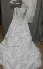 NWOT Mori Lee white beaded strapless corset back wedding dress women's size 4