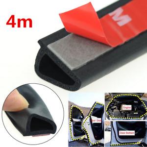 Sloping D Shaped Car Door Seal Strip Rubber 4m Trunk Hood Edge Insulation Trim