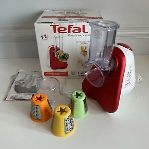 Tefal Fresh Express Food Grater/Slicing Machine with 3 Attachment Blades