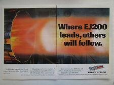 5/1990 PUB EUROJET EUROPEAN MILITARY ENGINE CONSORTIUM EJ200 ENGINE ORIGINAL AD