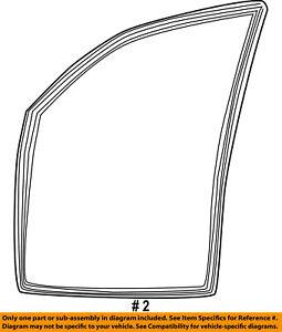 Dodge CHRYSLER OEM 03-09 Ram 3500 Front Door-Run Channel Left 55276181AH
