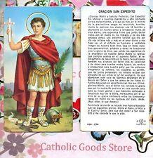 Oracion  San Expedito - Spanish - Paperstock Holy Card