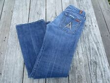 """7 For All Mankind ~ Women's Wide Leg """"A"""" Pocket Jeans ~ Size 28"""