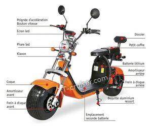 Super scooter city coco double batterie