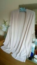 Ladies Long Cardigan Open waterfall style size 14 Pale Rose/Light Pink 20% Linen