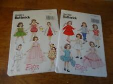 "2 Butterick 18""American Girl sz doll clothes patterns-B6000&B6001-Retro frm 1956"