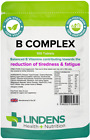 VITAMIN B COMPLEX TABLETS (100) 9 B-Vitamins, for Tiredness & Fatigue LINDENS