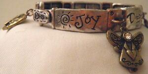 Tri-Color Stretch Bracelet ~ Joy Dream Wish Bliss Shine