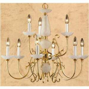 Classic Lighting Bloomington Traditional Chandelier, Polished Brass - 3069PB