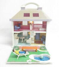 Vtg Blue Box Miniature Doll House Light Up Accessories