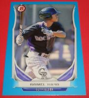 2014 Bowman Draft Top Prospects Blue #TP75 Raimel Tapia Rockies SERIAL# 096/399