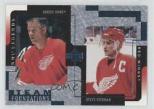 2000-01 Upper Deck Legends Steve Yzerman Gordie Howe #47 HOF
