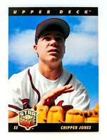 Chipper Jones #24 (1993 Upper Deck) Star Rookie Card, Atlanta Braves, HOF