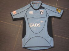 Para Hombre Gales Cardiff Blues Hogar Camiseta De Rugby Canterbury EADS 2008-09 (S)