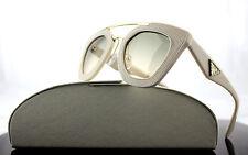 RARE Genuine PRADA MILANO Ornate Saffiano Cuir Leather Sunglasses SPR 14S UFP3H2