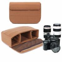 DSLR SLR Camera Bag Insert Partition Padded Lens Bag Pouch Case Protector Cover