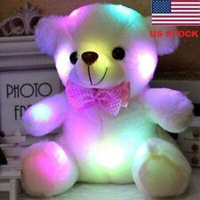 20cm LED Light Teddy Bear Kid Stuffed Plush Toys Lovely Baby Dolls Birthday JR15
