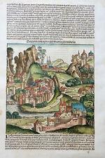 SACHSEN SAXONIA MAGNA GERMANIE PROVINCIA SCHEDEL WELTCHRONIK KOBERGER KOLOR 1493