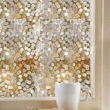 Opaque Bathroom Glass Glittering  Home Lattices Window Glass Sticker Decor LD