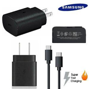 Original Samsung Fast Charger 25W USB-C Plug Type C S20 Plus Ultra Note 10 20 5G