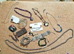JOB LOT Costume Jewellery New & Used Bracelets Bangles Necklaces Beads Earrings