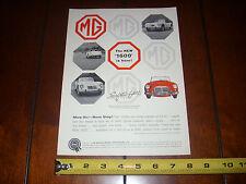 1960 MGA 1600 - ORIGINAL AD