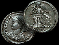 CONSTANTINOPOLI / Cyzicus  330-333 AD. / AE Follis Rated: RARE (R3) + COA