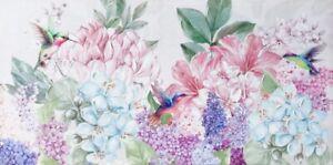 Hydrangeas Hummingbird Hand Painting Flowers Canvas Print Art Painting 50x100cm