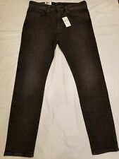 NEW LEVIS MADE & CRAFTED NEEDLE NARROW BLACK/GREY MEN DENIM JEAN SIZE 36 X 32