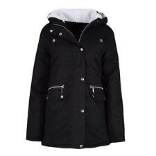 New Womens Ladies Plus Size Winter Parka Coat With Faux Fur Hood Sizes 8-+Plus