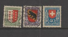 Switzerland 1921 Pro Juventute Used Set $54