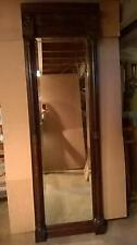 American Renaissance Antique solid mahogany 7 ' tall  Pier Mirror