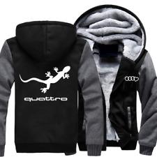 AUDI quattro Automobile Herren Reißverschluss Jacke Mantel Winter Warm jacket