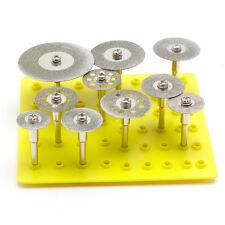 10Pcs 1/8'' Mini Diamond Cutting Disc For Rotary Mini Drills Cut Off Wheel New