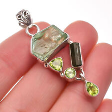 Colgantes de joyería con gemas de turmalina peridoto