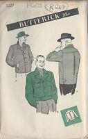 "1940s Vintage Sewing Pattern MEN'S JACKET C38""-40"" (R267)"