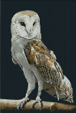 "Barn Owl 3 Complete Counted Cross Stitch Kit 7"" x 10.5"""