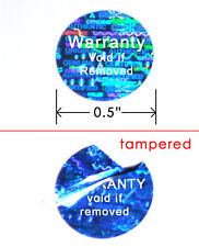 5,000 HOLOGRAM ROUND SECURITY LABELS STICKERS SEAL CUSTOM PRINT SILVER VOID 3/4""