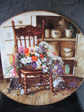 1990  COUNTRY CUTTINGS Flowers From Grandma's Garden Cats Ltd Ed Plate
