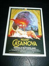 CASANOVA, film card [Donald Sutherland] - Federico Fellini film
