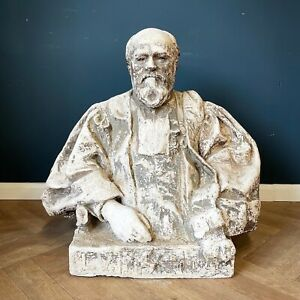 Antique Bust Large Plaster Statue Of A Judge Busts Statues French Antiques Big