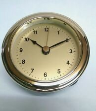 "Quality CLOCK FIT UP with brass face or CUSTOMIZE YOUR OWN FACE, 3 1/8"" x 3"" New"