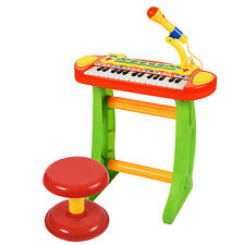 Keyboard Musical Instruments Toy Piano With Microphone Tool Chair Records